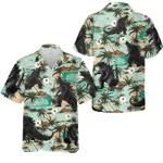 Godzilla coconut tree hawaiian shirt