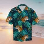 Tiger Tropical Hawaiian Shirt, Unique Summer Gift Idea