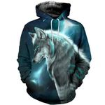 Wolf Love 3D All Over Printed Hoodie