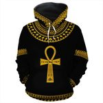 African Ankh Egypt 3D All Over Hoodie