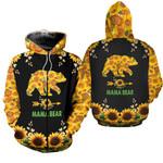 Mama Bear Full Of Sunflower 3D All Over Print Hoodie & Leggings