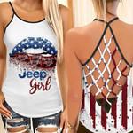 Jeep Girl Criss Cross Back Tank Top