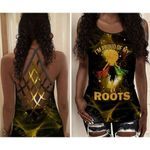 I'm Proud Of My Roots Africa American Girls Criss Cross Tank Top