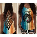 Unapologetically Dope Mad Soul Black Girl Magic Criss Cross Tank Top