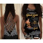 Dear Black Girl You Are More Beautiful Than The World Criss-Cross Tank Top