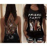 Black Girl Friend Party Criss Cross Tank Top