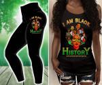 I Am Black History Combo Criss-Cross Tank Top & Leggings