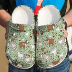 Goat Love Goat Pattern Unisex Clog Comfortable For Mens And Womens