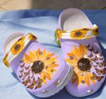 Sunflowers & Butterflies Unisex Clog For Mens And Womens