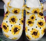 Sunflower pattern Unisex clog for mens and womens