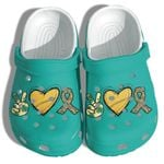 Peaces Hippie Love Unisex Clog Shoes