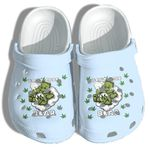 Weed Bear Do Not Care Funny High Smoke Unisex Clog Shoes
