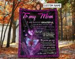 Personalized Butterfly To My Mom Blanket, Gift for Mom From Daughter Fleece Blanket