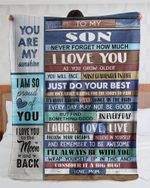 Personalized To My Son, Never Forget That I Love You Fleece Blanket