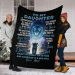 Personalized To My Daughter Love From Dad Lions - Fleece Blanket