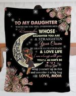 Personalized To My Daughter Love You To The Moon And Back From Mom - Fleece Blanket