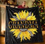 Personalized Grandkids' Names And Grandma's Nickname Sunflower Blanket