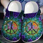 Peace Hippie Flower Unisex Clog Shoes