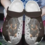 Dachshund Unisex Clog Whitesole For Mens and Womens