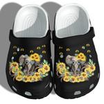 Elephant Sunflower Cute Clog Shoes