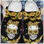 Skull Sunflower Unisex Clog Shoes
