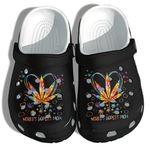 World's Dopest Mom Weed Leaf Heart Unisex Clog Shoes
