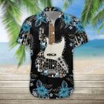 Bass Guitar Tropical Hawaiian Shirt