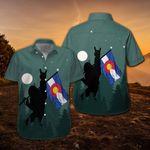 Bigfoot Colorado Flag Hawaiian Shirt