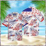 Fishing American Flag Hawaiian Shirt