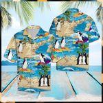 Penguin Summer Vacation Hawaiian Shirt