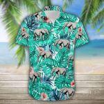 Elephant Tropical 3D Printed Hawaiian Shirt