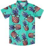 Pineapple Wear Sunglasses Tropical Hawaiian Shirt