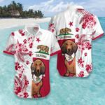 Dachshund California Flag Hawaiian Shirt