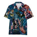 American Patriotic Eagle 4th July Hawaiian Shirt