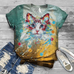 Cute Cat 3D Unisex T-Shirt