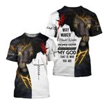 Christian Jesus Jesus Lion T-Shirt 3D All Over Printed Unisex