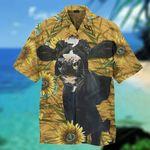 Dairy Cow Sunflower Hawaiian Shirt