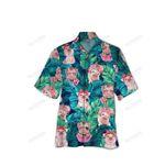 Pig And Tropical Leaves Hawaiian Shirt