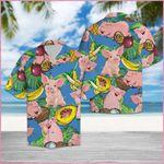 Pig Love Fruit Hawaii Shirt