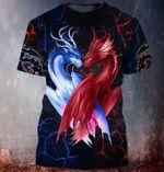 Dragon Couple 3D Printed Shirt