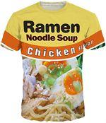 Ramen Noodle Soup Chicken Noodle 3D All Over Print Shirt