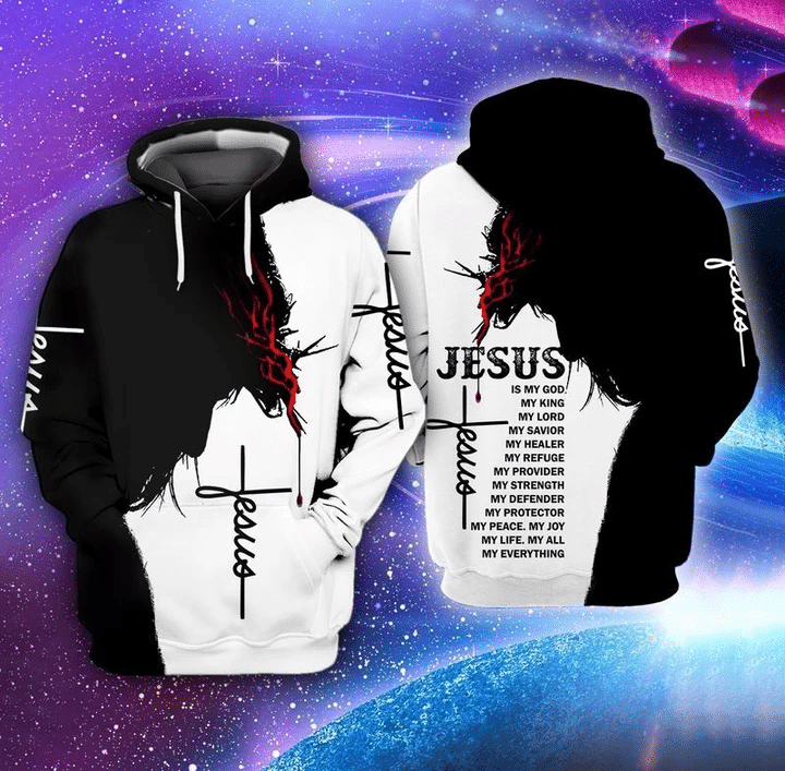 Jesus Is My God My King My Lord 3D Hoodie All Over Print