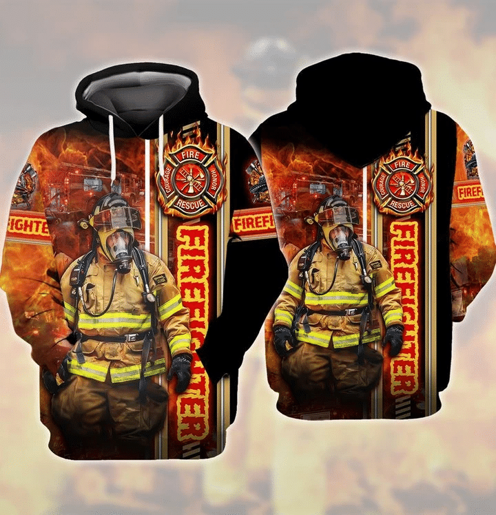 Firefighter 3D Hoodie All Over Print