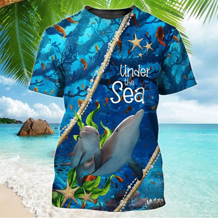 Dolphin Under The Sea  3D Hoodie All Over Print
