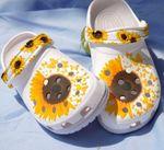 Butterflies sunflower Unisex clog shoes