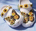 Faith sunflower butterfly Unisex clog shoes