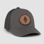 Ethereum Leather Baseball Cap Hats