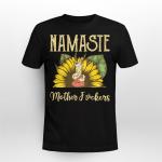 Llama Namaste Mother F^ckers Sheep Yaga Sunflower Shirt