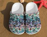 Fish Scales Mermaid Glitter Unisex Clog Shoes