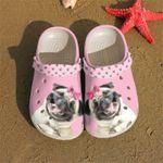 Pink Funny Pug Unisex Clog Shoes